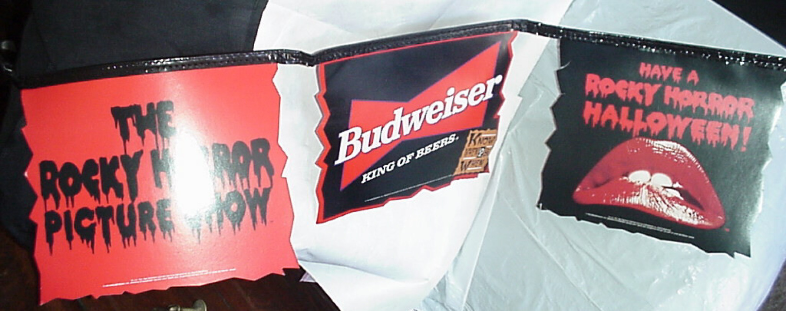 Rocky Horror Picture Show Rare Budweiser Beer Banner Bar Decoration